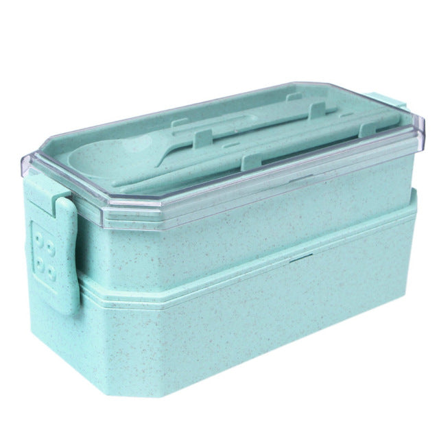 Portable Reusable Wheat Straw Bento Lunch Box