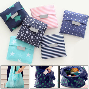 Cute Square Grocery Foldable Reusable Shopping Bag