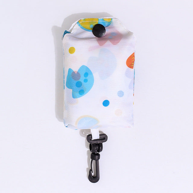 Foldable Portable Reusable Shopping Bag with Clip