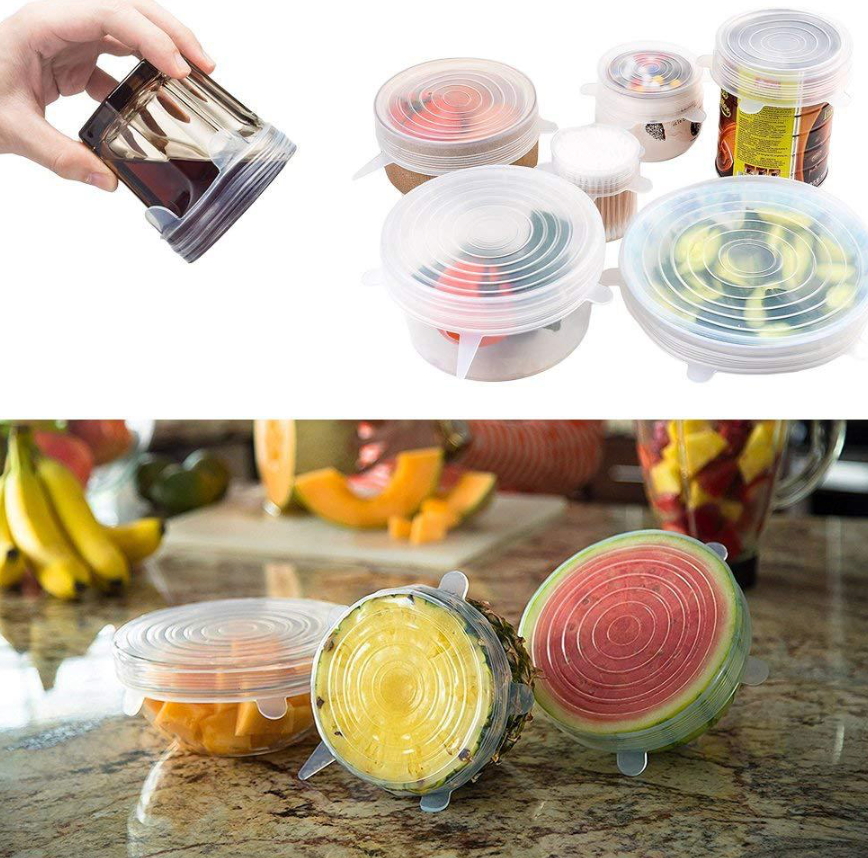 Clear Silicone Food Covers