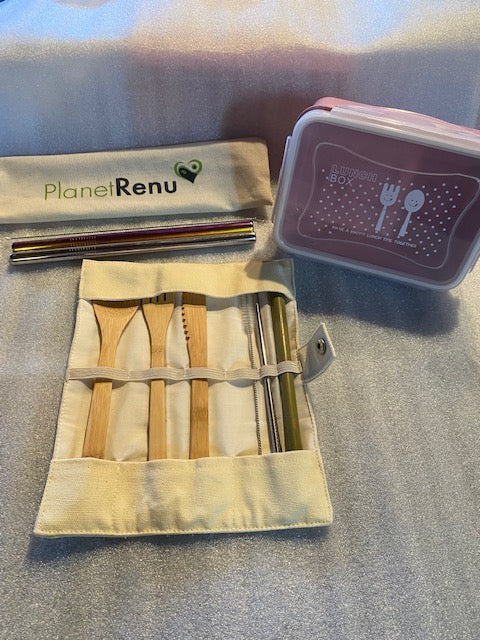 bamboo cutlery, on the go, boba straws , smoothie straws, stainless steel straws, wheat straw bento box, bento box