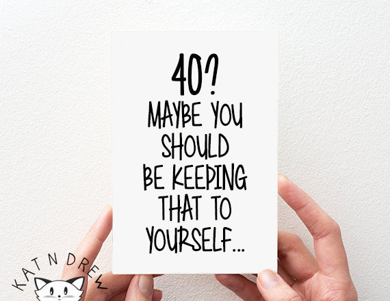 40?/ Keep To Yourself Card.  PGC086
