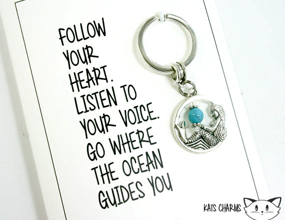 Where The Ocean Guides Card.  KEY022