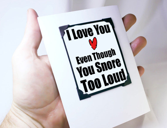 funny love you card as Magnet Card