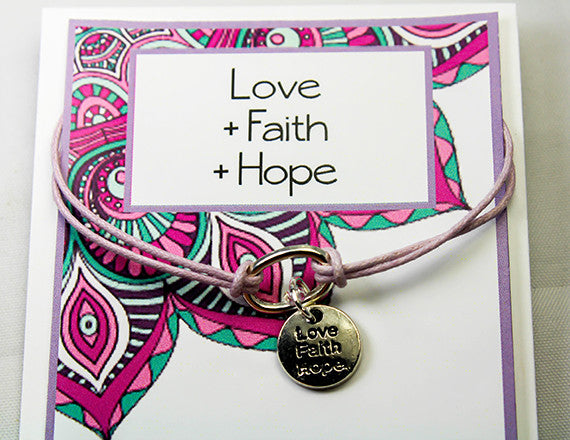 hope charm bracelet for love and faith