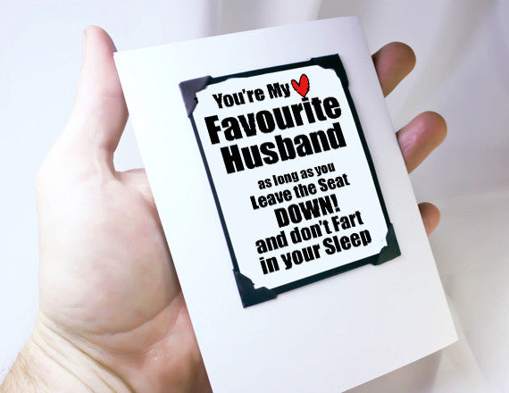 funny anniversary gift for guys as magnet and card