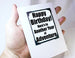 birthday adventure greeting card and quote magnet