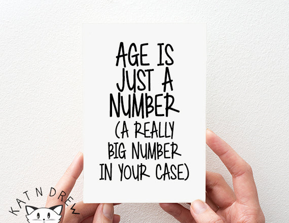 Funny Birthday Card For Old People