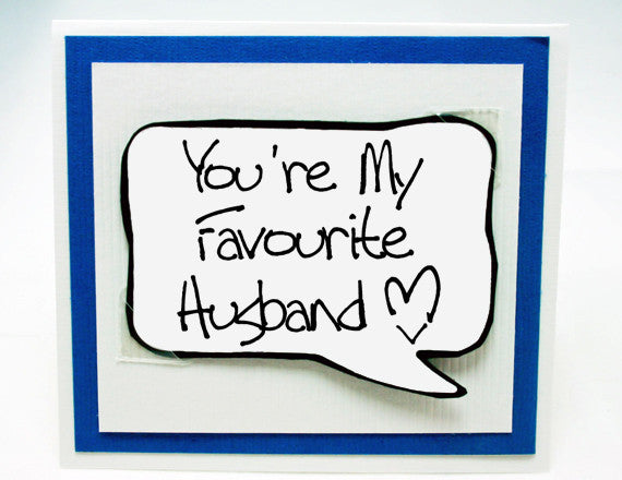 Anniversary Card For Husband Love You Card For Him Aqua Note Card