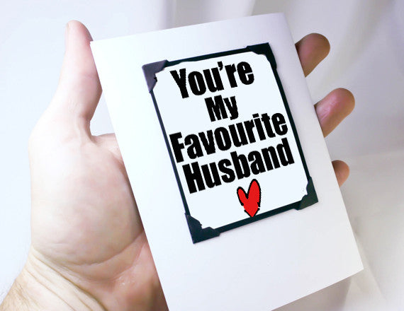 favourite husband funny anniversary gift