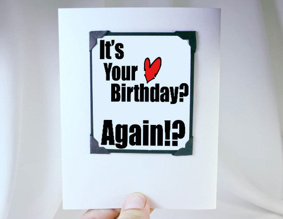 belated birthday card magnet greeting card
