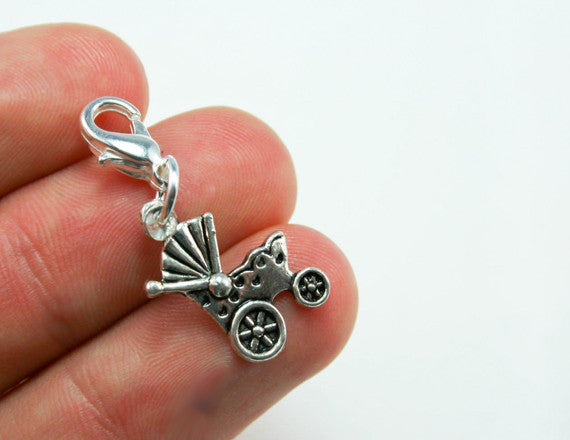 Baby Shower Charm. New Baby Stroller Charm for New Moms. SCC009