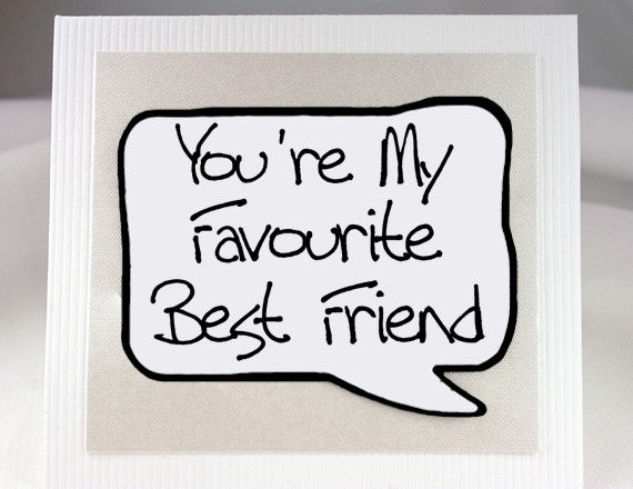 funny best friend card for friends birthdays in white