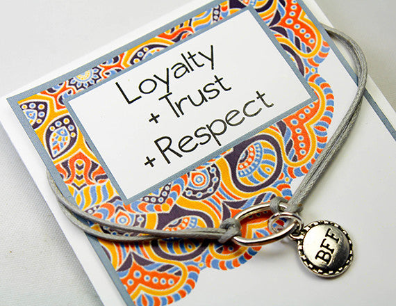 loyalty and respect charm bracelet