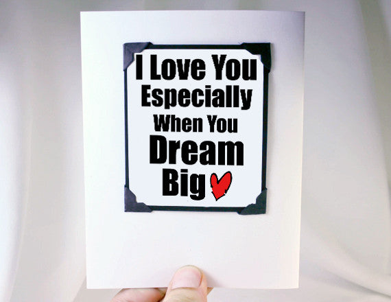 love you dream big card magnet gift card