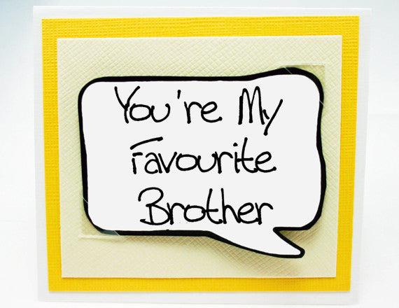 funny birthday card for brothers. cute brother note card.