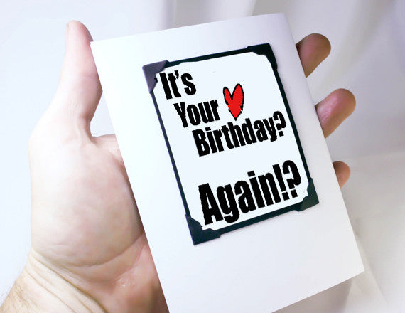 funny birthday quote magnet card