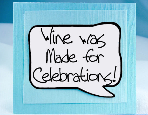 birthday celebration card with wine quote as magnet