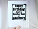 happy birthday magnet quote as greeting card