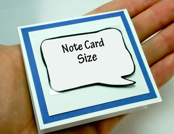 blue note card