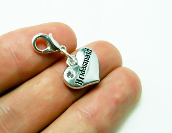 Bridesmaids Wedding Charm. Bridesmaid Thank You Charm. Bracelet Charm. SCC397
