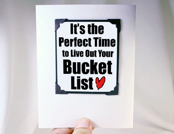 bucket list retirement card and magnet cute gift