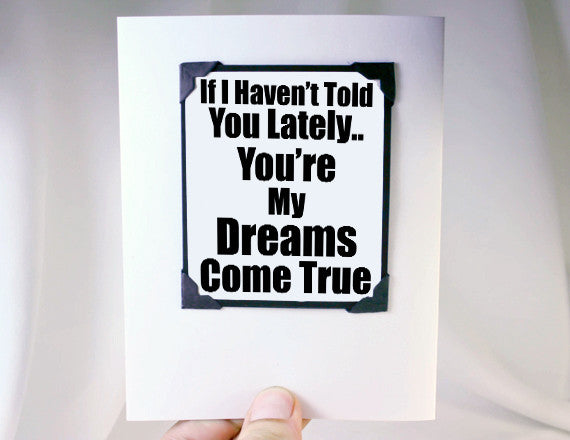 dreams come true fun quote magnet