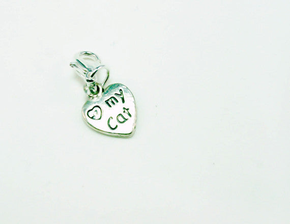 cat lover paw charm