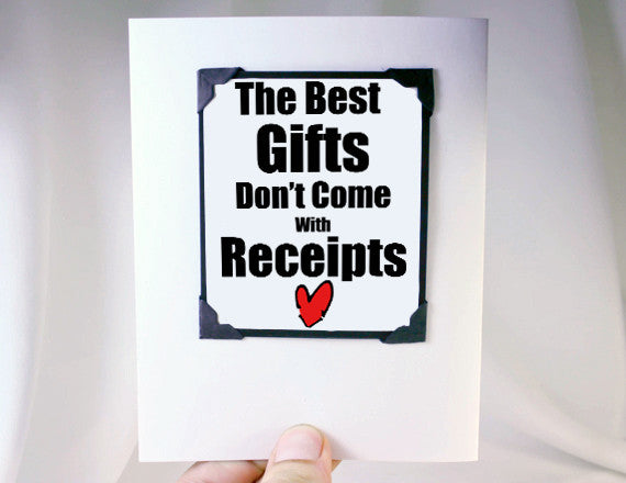 clever gift idea as card and magnet