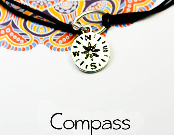 compass charm bracelet for world travellers