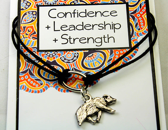 confidence and leadership charm bracelet