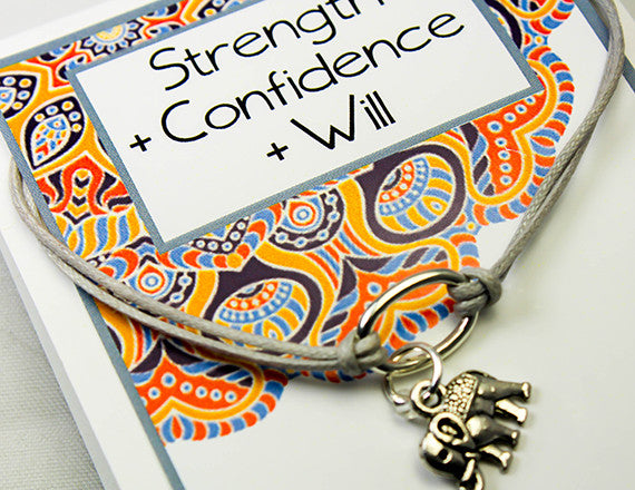 confidence and power of will charm bracelet