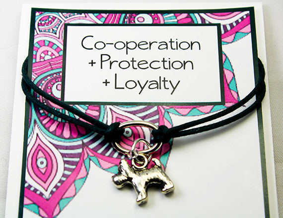 loyalty and protection charm bracelet