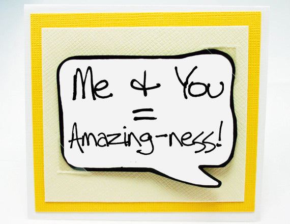 Couples Love You Card. You and Me. NC041