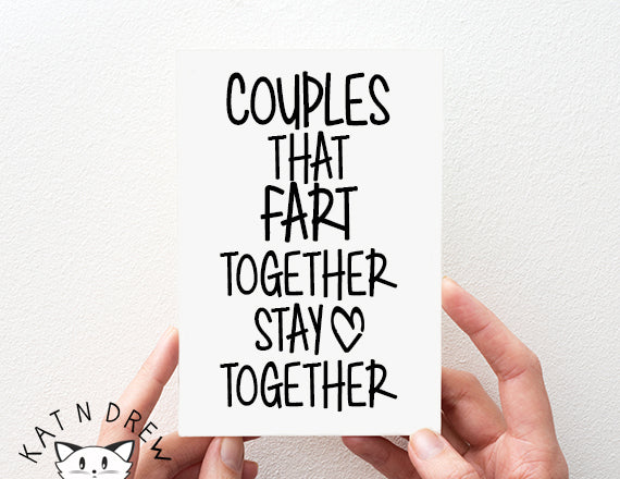 funny fart card. cute anniversary quote