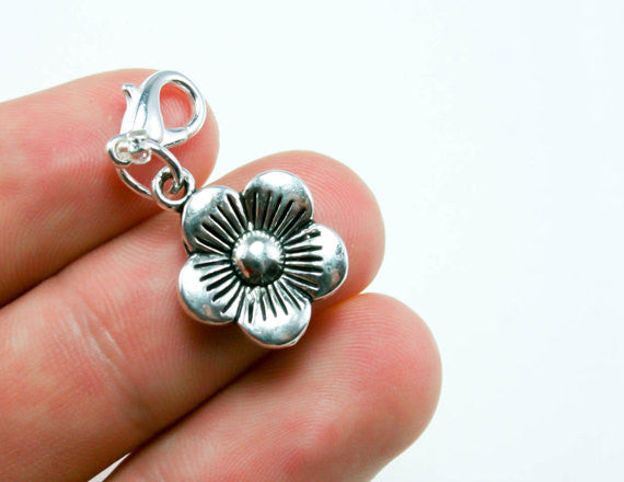 cute flower charm for bracelets