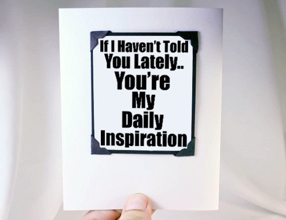 daily inspiration quote as magnet and card