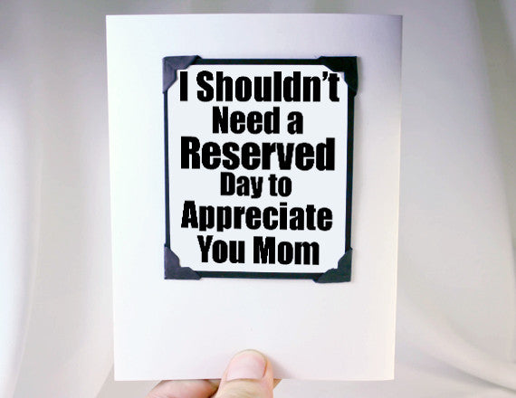 mothers day card fun love you card for mom for birthdays