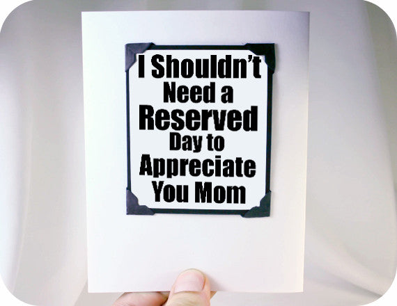 happy mothers day magnet card love you gift for mom