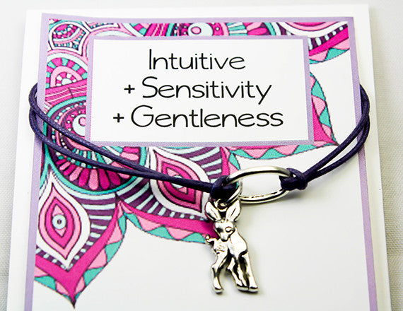 intuition and sensitivity charm bracelet