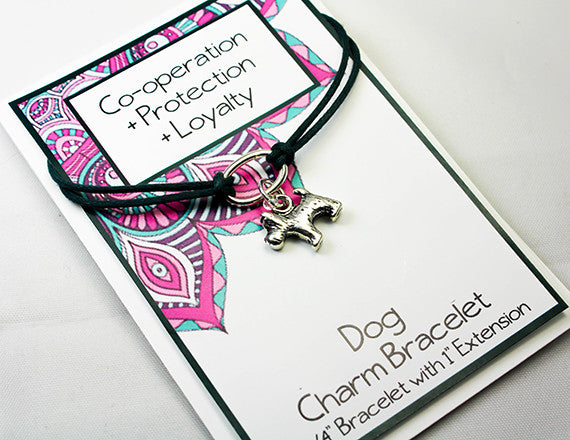 dog lover charm bracelet for protection