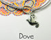 dove charm and bracelet card
