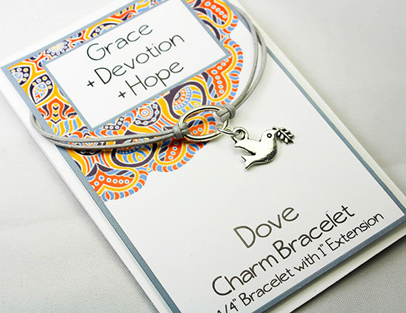 inspirational card and dove charm