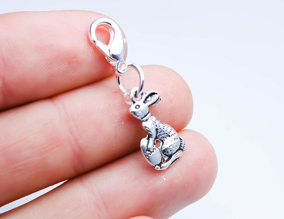 easter bunny charm for bracelet charms