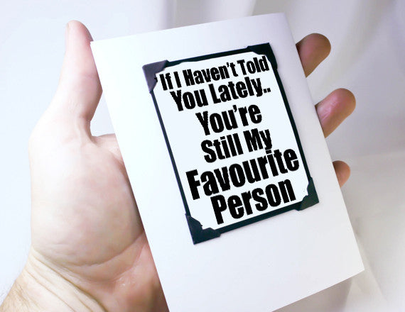 anniversary card for guys as favorite person gift with magnet