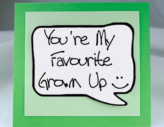 funny fathers day card and magnet green note card