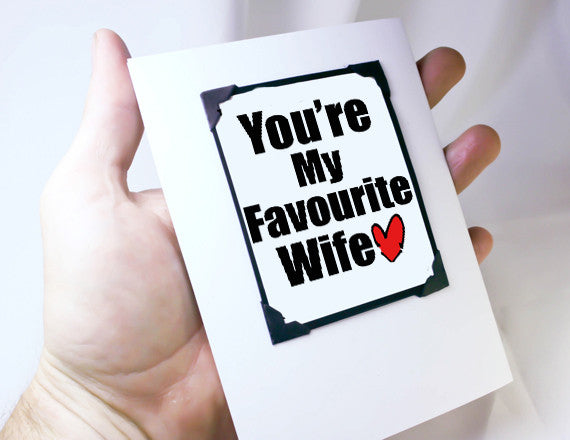 funny card for her anniversary card