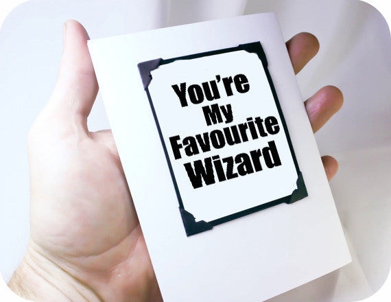 harry potter card wizard gift magnet card