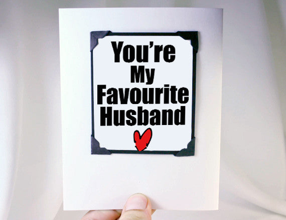 funny anniversary gift for him magnet and card