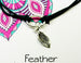 feather charm bracelet for rebirth